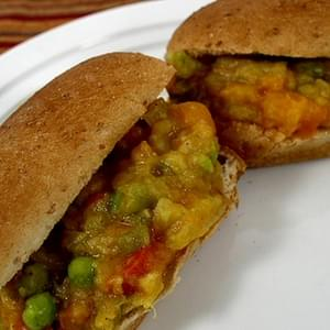 Pav Bhaji (Spicy Mixed Vegetable Sandwiches)