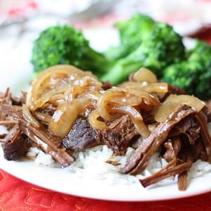 Round Roast with Balsamic Onion Sauce