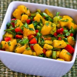 Kiwi, Mango, and Cucumber Salsa with Lime and Jalapeno Recipe