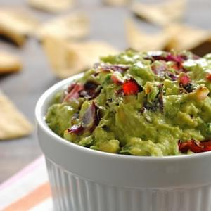 Roasted Red Pepper and Onion Guacamole