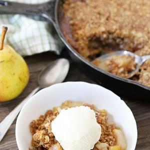 Brown Butter Pear Crisp