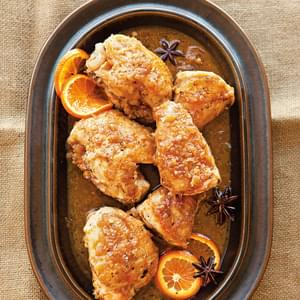Braised Chicken with Tangerine & Star Anise