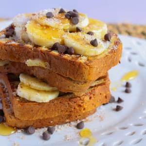 Gluten-Free Banana and Chocolate Chip Stuffed French Toast