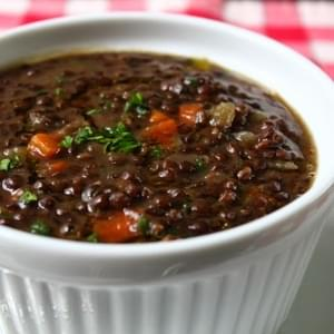 Black Lentil Soup – Always Bet on Black