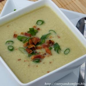 Creamy Cauliflower and Leek Soup