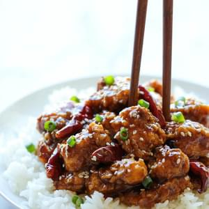 Lighter General Tso's Chicken