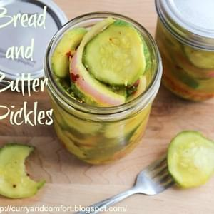 Spicy Garlicky Bread and Butter Pickles