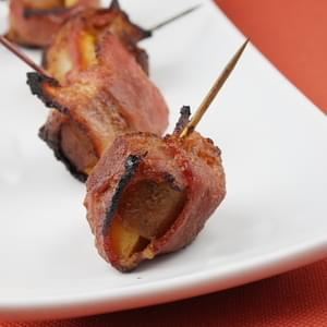 Bacon-Wrapped Apple & Sausage Bundles