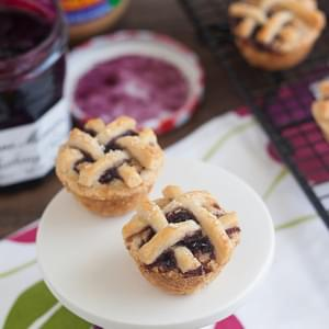 Mini Peanut Butter and Jelly Lattice Pies