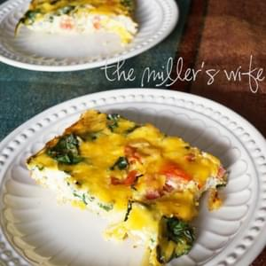 Ricotta and Swiss Chard Egg Casserole