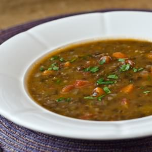 French Lentil and Vegetable Soup with Bacon