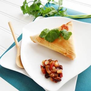 Mexicali Phyllo Wraps ~ Chipotle Cilantro Cream