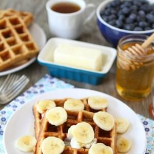 Brown Butter Banana Waffles