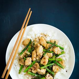 Ginger Chicken Stir-Fry with Asparagus