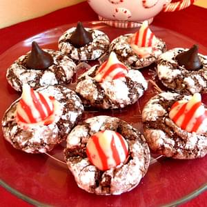 Chocolate Peppermint Crinkles