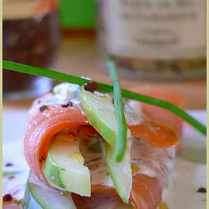 Cucumber and Smoked Salmon Wraps with Paradise Seeds