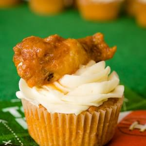 Buffalo Chicken Cupcakes for the Super Bowl