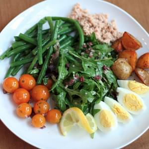Salmon Niçoise Salad with Black Olive Vinaigrette