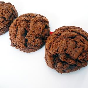 Thick and Chewy Triple-Chocolate Cookies