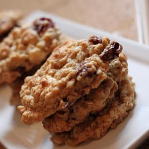 Oatmeal Dried Cherry & White Chocolate Chunk Cookies