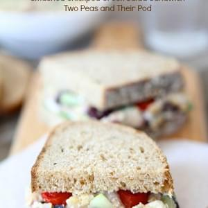 Smashed Chickpea Greek Salad Sandwich
