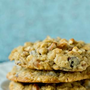 Malted Milk Chocolate Chip, Peanut & Pretzel Oatmeal Cookies