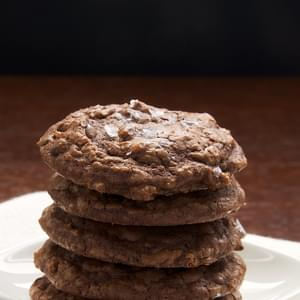 Salted Chocolate Truffle Cookies