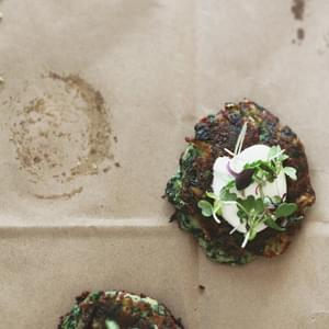 Savory Spinach & Spring Onion Cakes