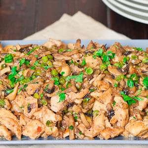 Skinnified Chicken and Mushrooms with White Wine