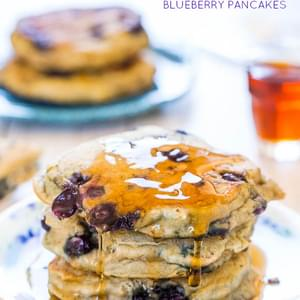 Dairy-Free Soft and Fluffy Blueberry Pancakes