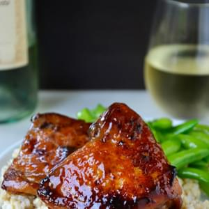 Honey Balsamic Baked Chicken Thighs