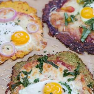 Breakfast Pizza with Gluten-Free Cauliflower Crust