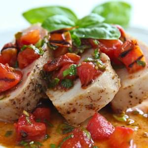 Pork Tenderloin with Warm Grilled Tomato Salsa