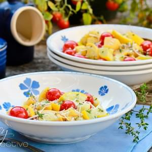 Yellow Summer Squash Recipe with Blistered Tomatoes