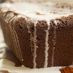 Chocolate Pound Cake with Vanilla Glaze