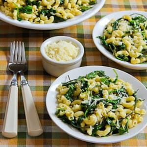 Macaroni with Greens, Lemon, and Parmesan
