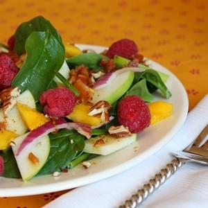 Baby Spinach Salad w/ Warm Citrus- Bacon Vinaigrette