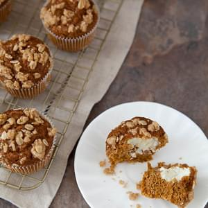 Lighter Pumpkin Cream Cheese Muffins