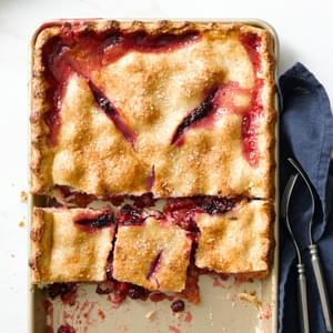 Gingered Peach-Blackberry Slab Pie