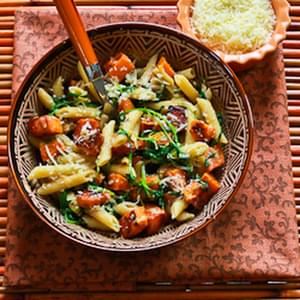 Garlic Butter Pasta with Spinach and Parmesan Recipe