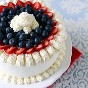 Berry Vanilla Ice Cream Cake