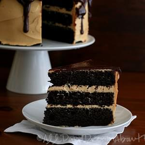 Dark Chocolate Peanut Butter Layer Cake – Low Carb and Gluten-Free