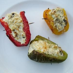 Stuffed Peppers with Ricotta Cheese and Mushrooms