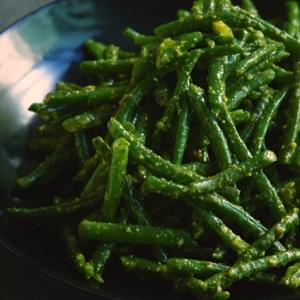 Green Beans With Pistachio Pesto