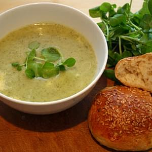 Turnip, Watercress and Blue Cheese Soup