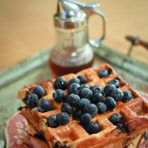 Blueberry and Cinnamon Waffles