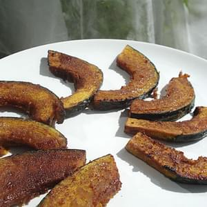 Sweet And Spicy Roasted Kabocha Squash