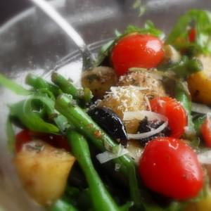 Warm Potato, Olive and Green Bean Salad