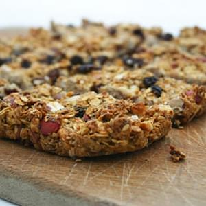 Fleur De Sel Caramel Oat Bars With Apple Butter And Dried Fruit