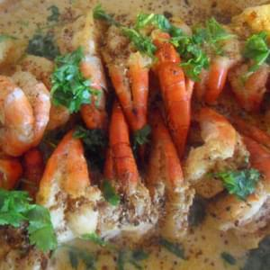 Easy Indian Prawn Recipe – Baked with a Coconut and Mustard Sauce